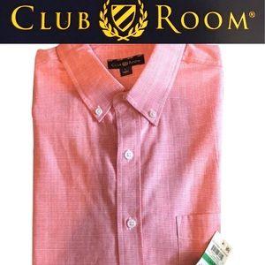 Men's Coral Dress Up Dress Down Shirt Men